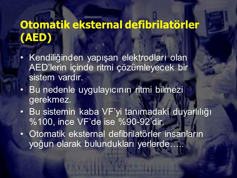 Otomatik eksternal defibrilatörler (AED)