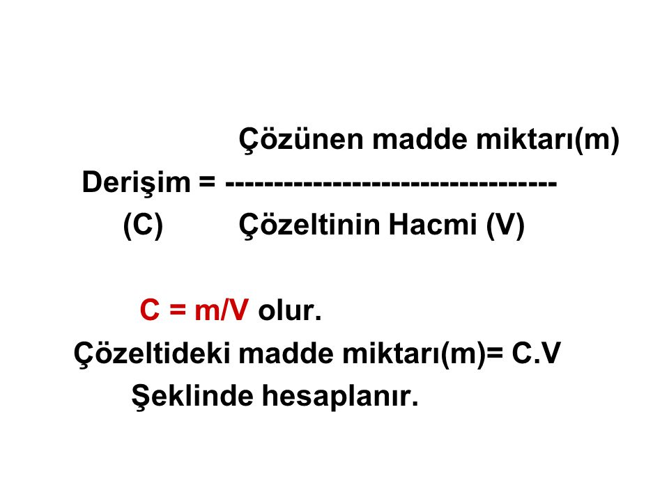 Çözünen madde miktarı(m)