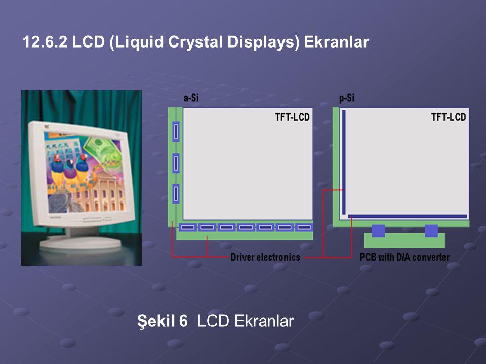 12.6.2 LCD (Liquid Crystal Displays) Ekranlar