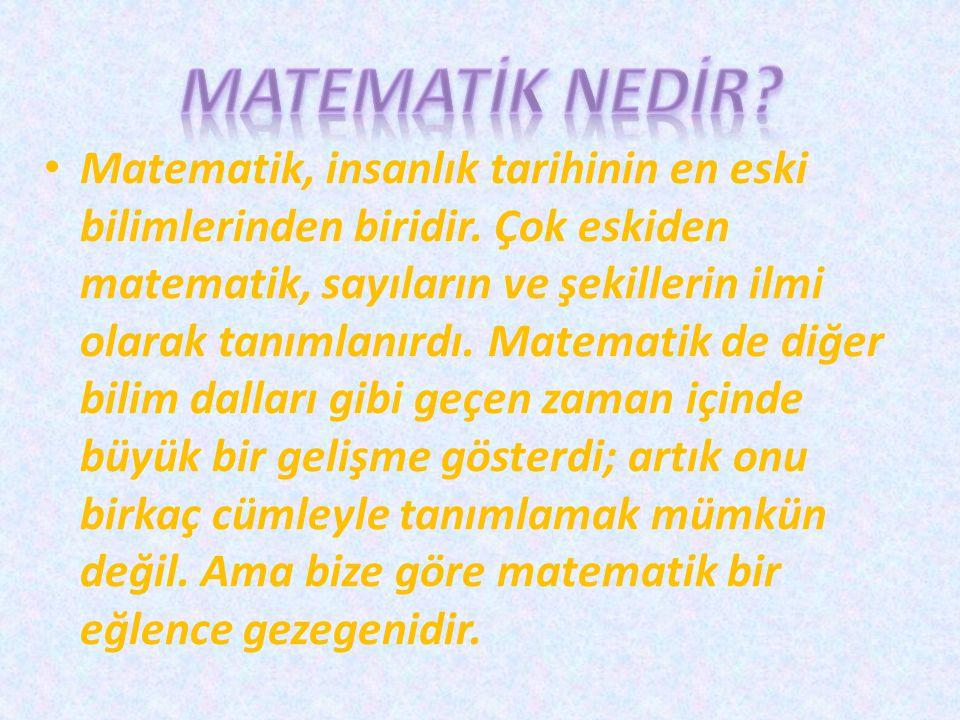 MATEMATİK NEDİR