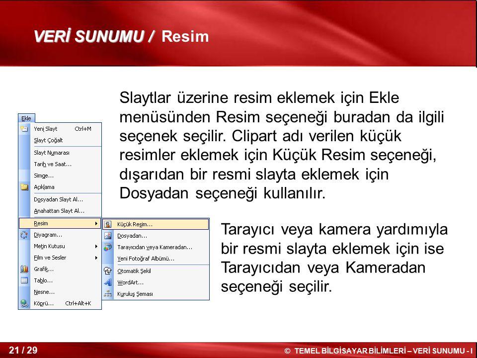 VERİ SUNUMU / Resim
