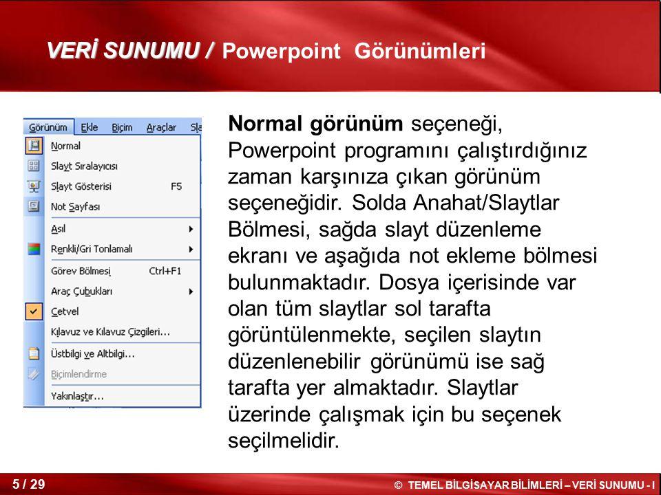 Powerpoint Görünümleri