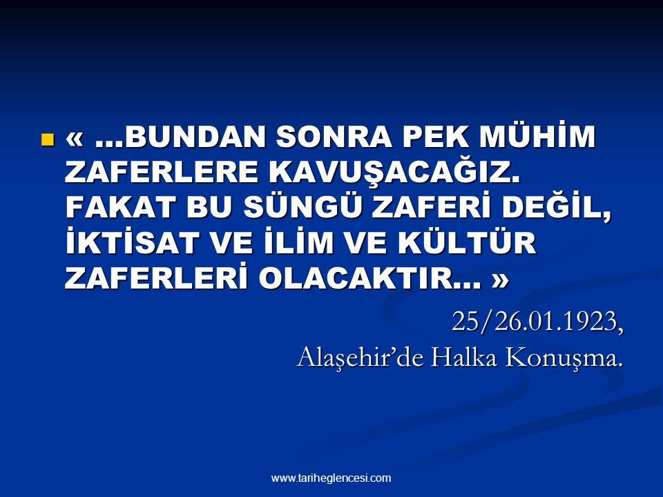 25/26.01.1923, Alaşehir'de Halka Konuşma.
