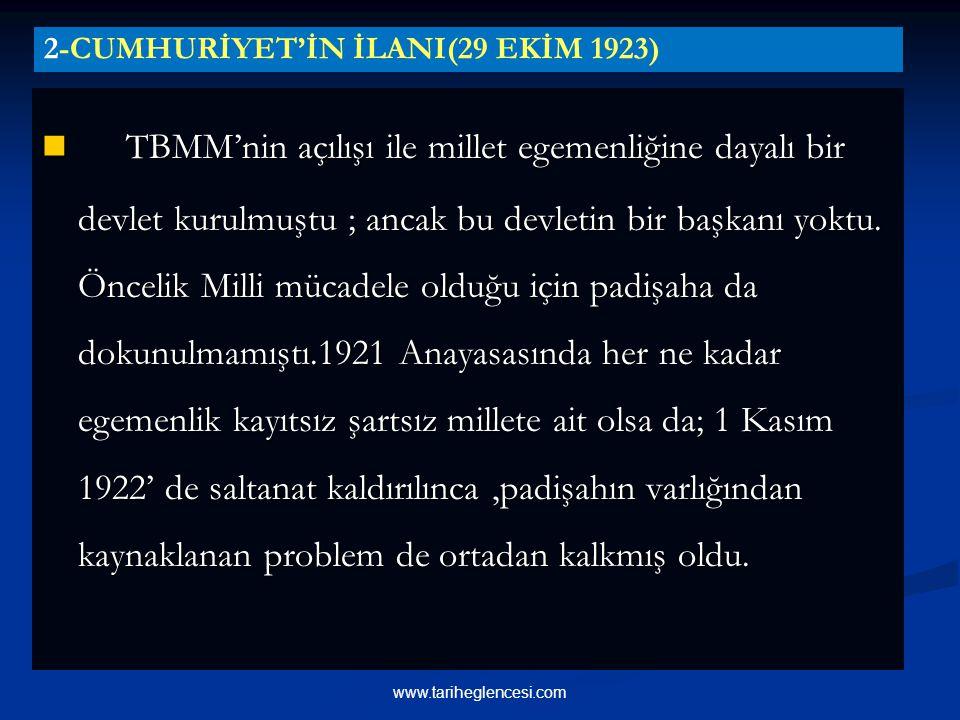 2-CUMHURİYET'İN İLANI(29 EKİM 1923)