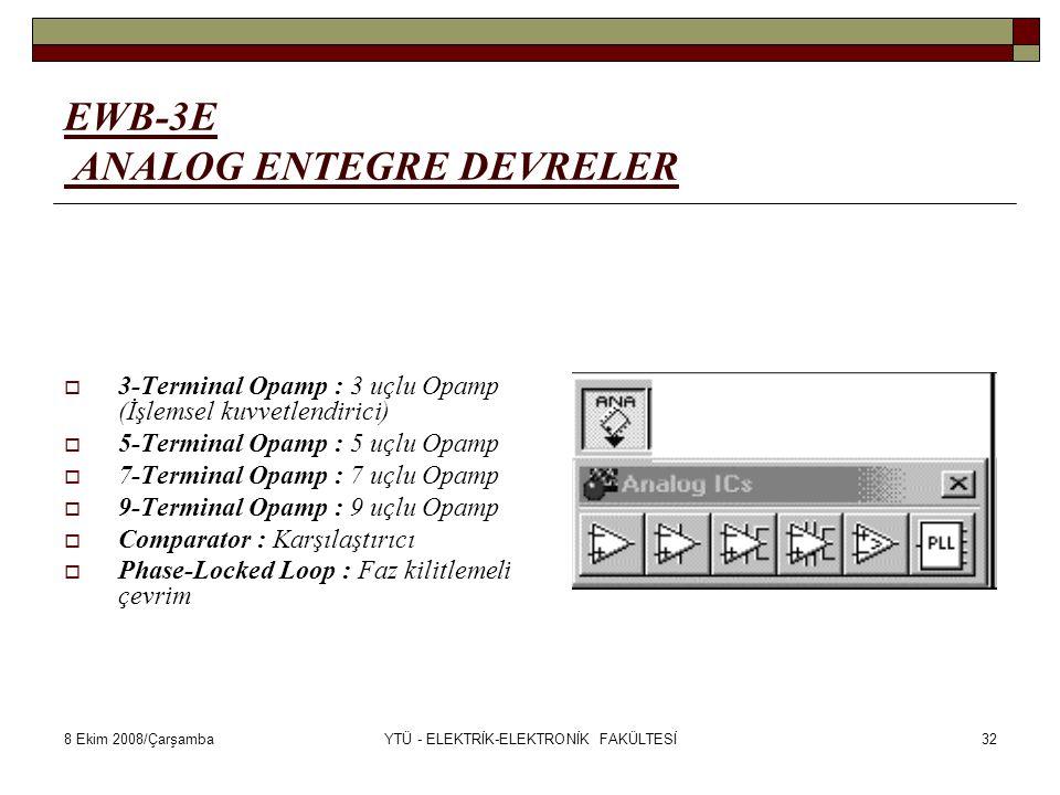 EWB-3E ANALOG ENTEGRE DEVRELER