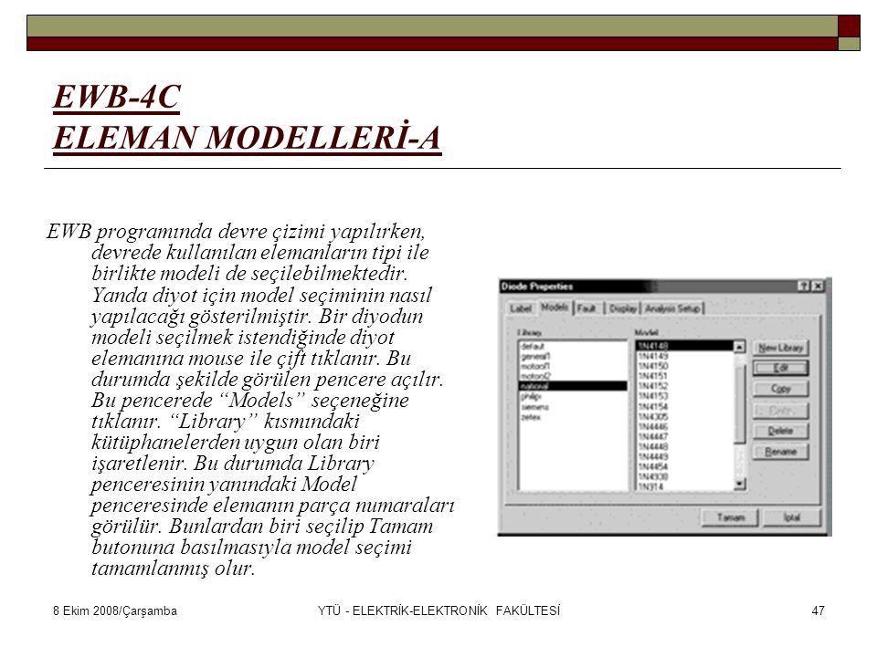 EWB-4C ELEMAN MODELLERİ-A