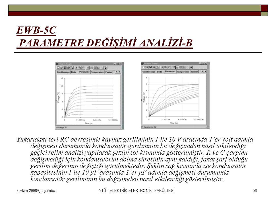 EWB-5C PARAMETRE DEĞİŞİMİ ANALİZİ-B
