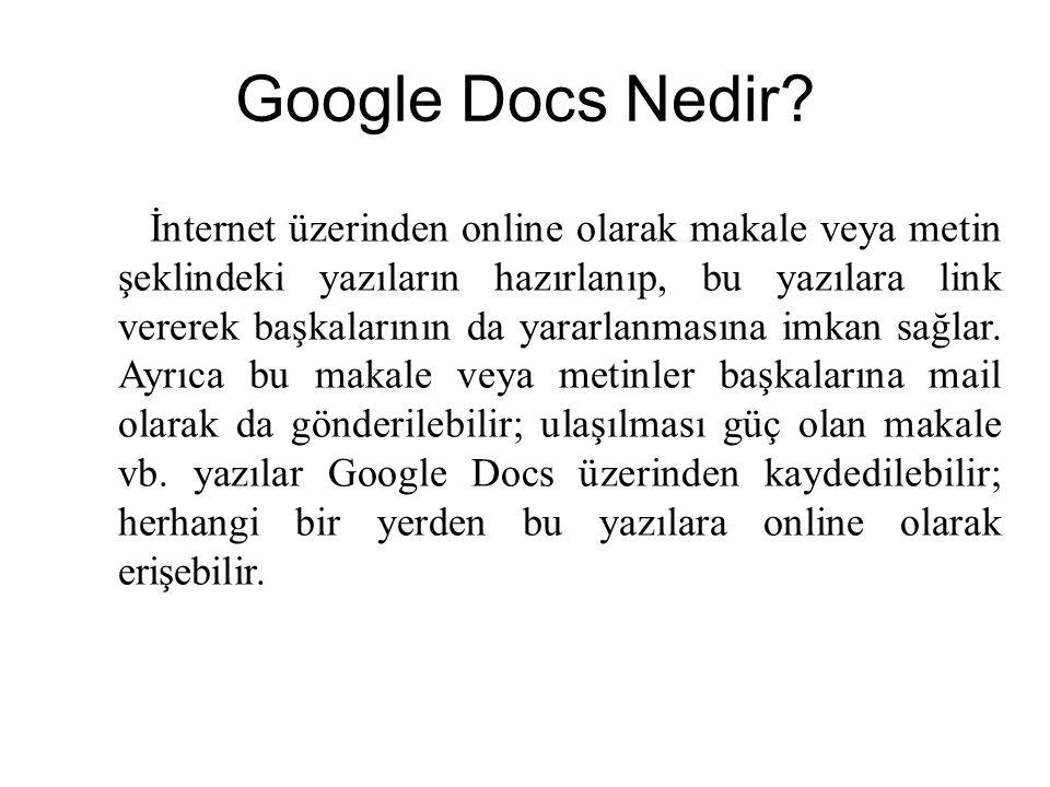 Google Docs Nedir