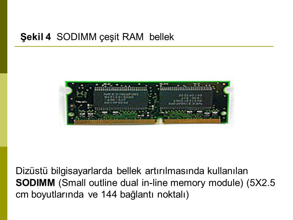 Şekil 4 SODIMM çeşit RAM bellek