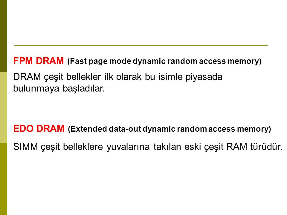 FPM DRAM (Fast page mode dynamic random access memory)