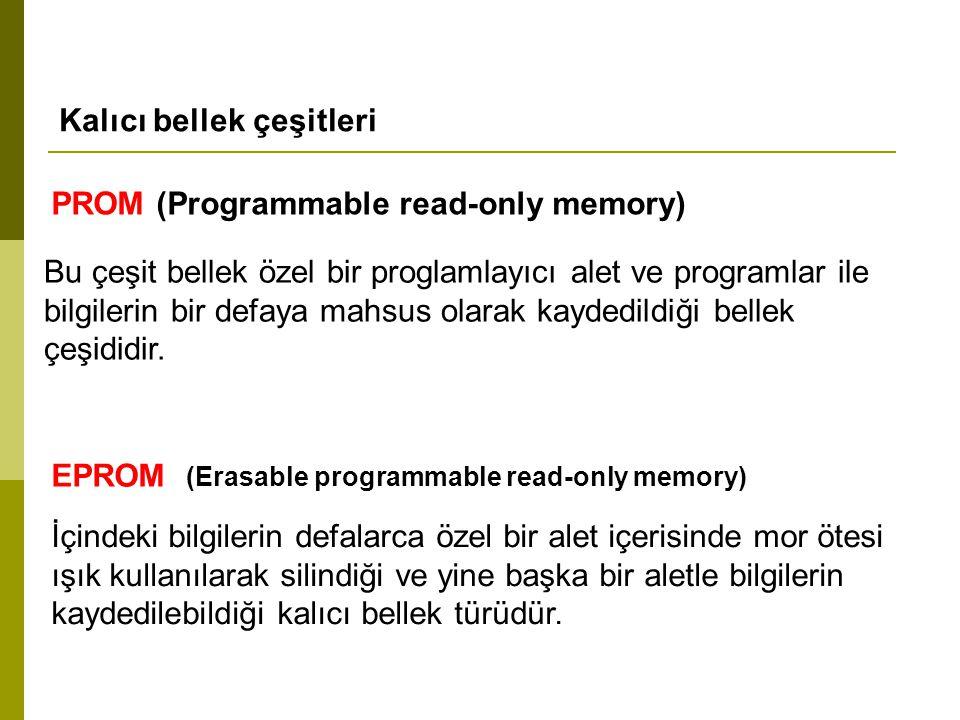 Kalıcı bellek çeşitleri