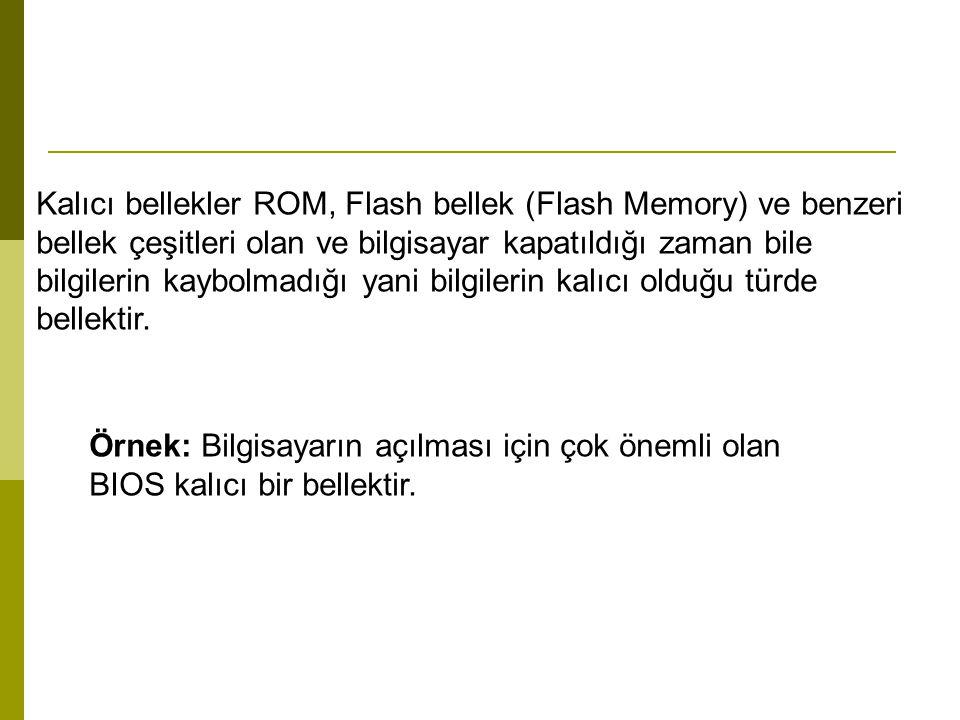 Kalıcı bellekler ROM, Flash bellek (Flash Memory) ve benzeri bellek çeşitleri olan ve bilgisayar kapatıldığı zaman bile bilgilerin kaybolmadığı yani bilgilerin kalıcı olduğu türde bellektir.