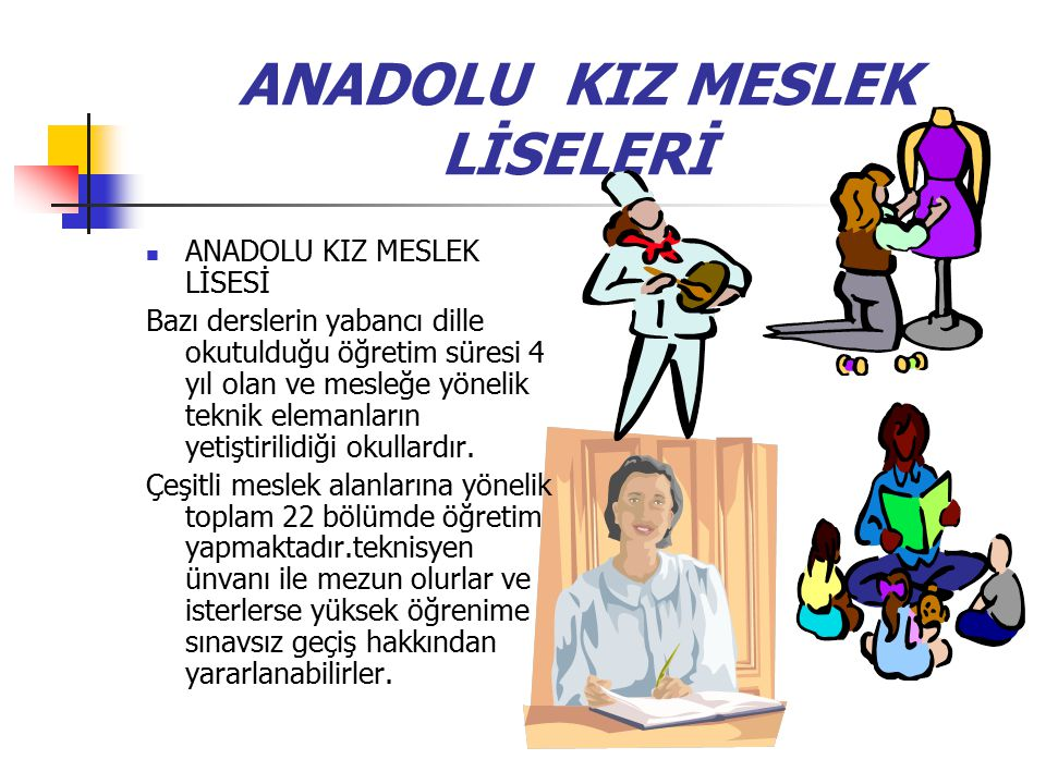 ANADOLU KIZ MESLEK LİSELERİ
