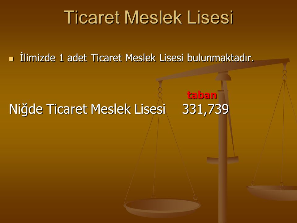 Ticaret Meslek Lisesi Niğde Ticaret Meslek Lisesi 331,739