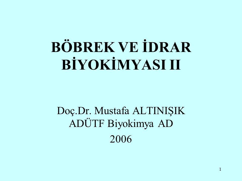 BÖBREK VE İDRAR BİYOKİMYASI II