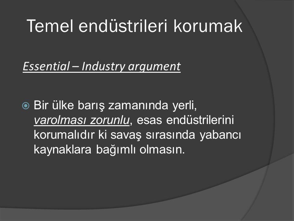 Temel endüstrileri korumak