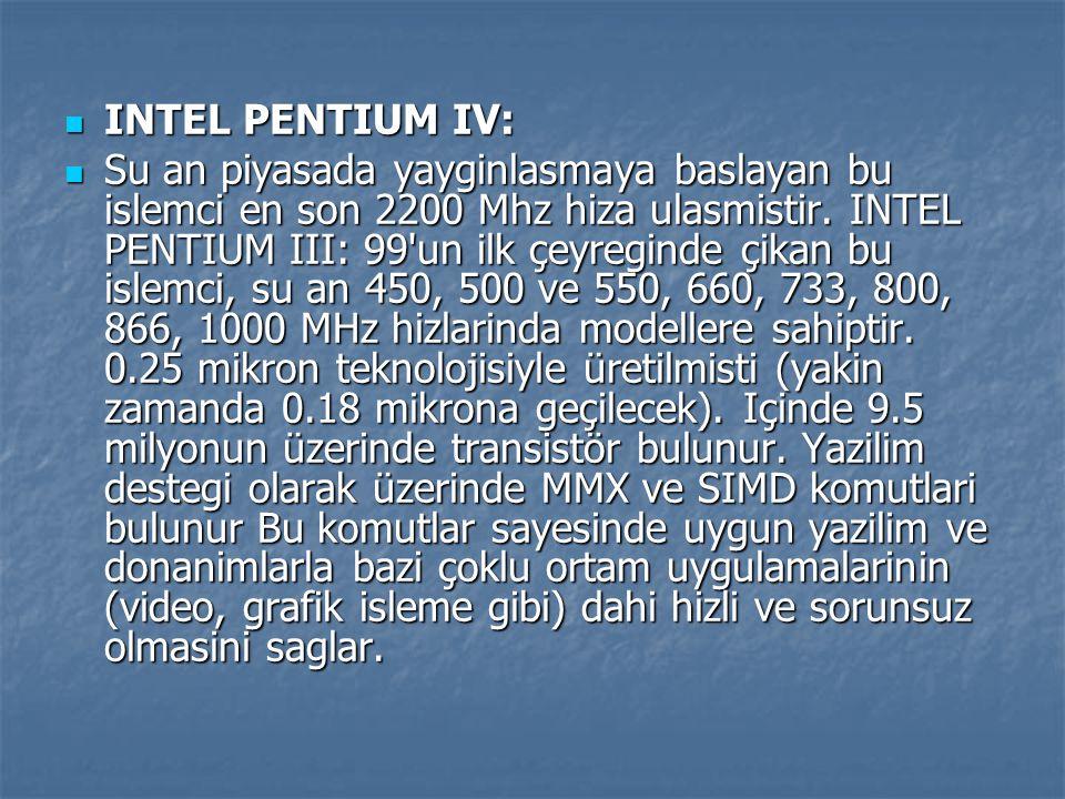INTEL PENTIUM IV:
