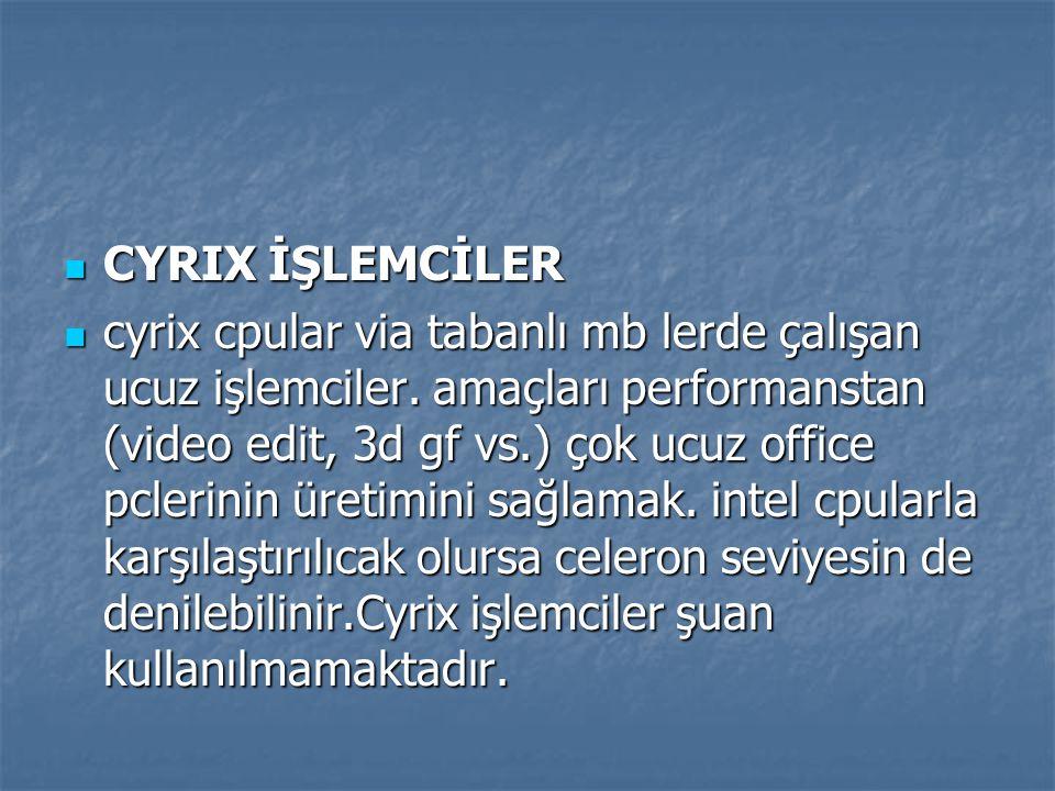 CYRIX İŞLEMCİLER