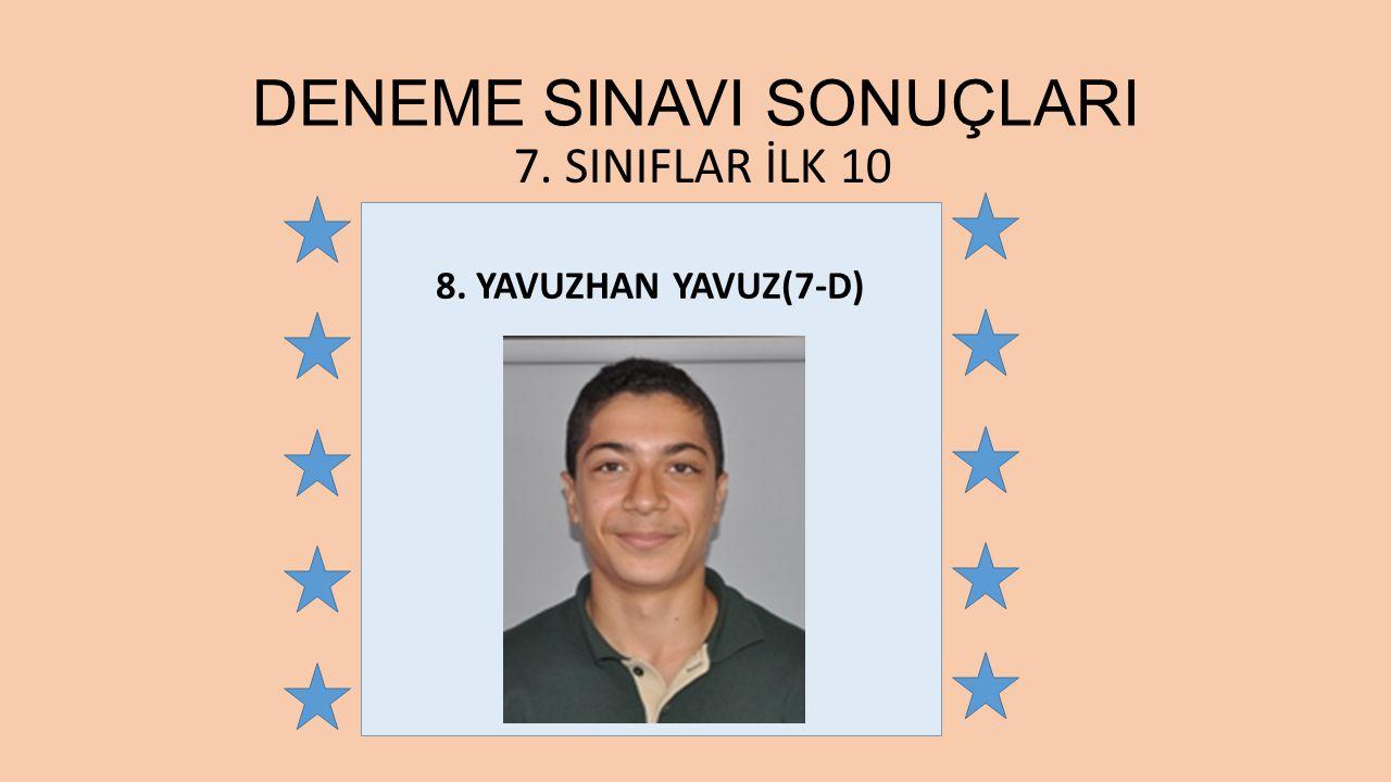 DENEME SINAVI SONUÇLARI
