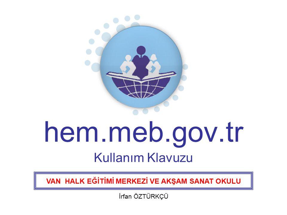 hem.meb.gov.tr Kullanım Klavuzu