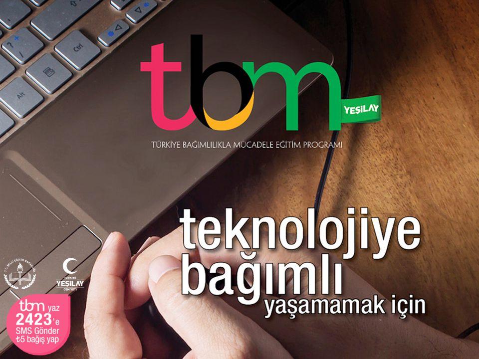 Bu sunuda TBM için hazırlanmış olan «Teknolojiye Bağımlı Yaşamamak İçin» adlı (Metin: Mehmet Dinç, 2014, İstanbul: Yeşilay Yayını) broşürden yararlanılmıştır.