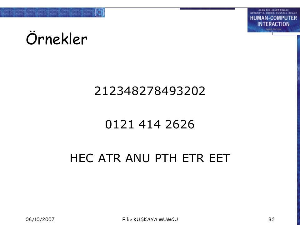 Örnekler 212348278493202 0121 414 2626 HEC ATR ANU PTH ETR EET