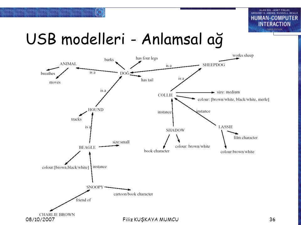 USB modelleri - Anlamsal ağ