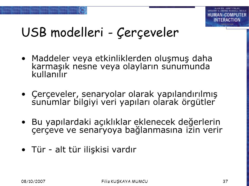 USB modelleri - Çerçeveler