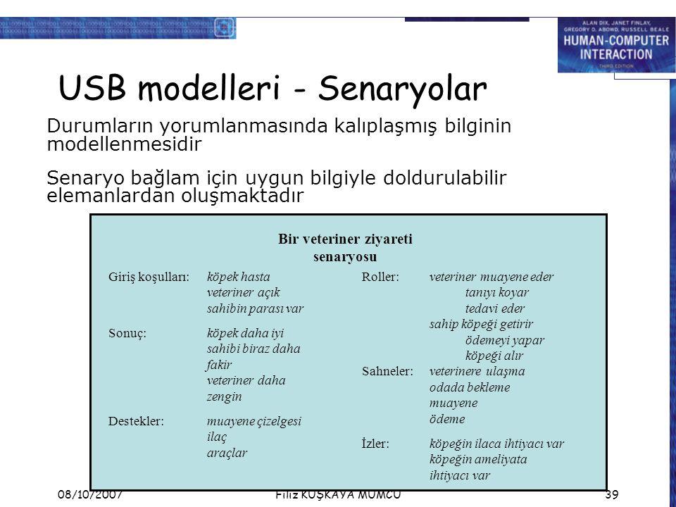 USB modelleri - Senaryolar