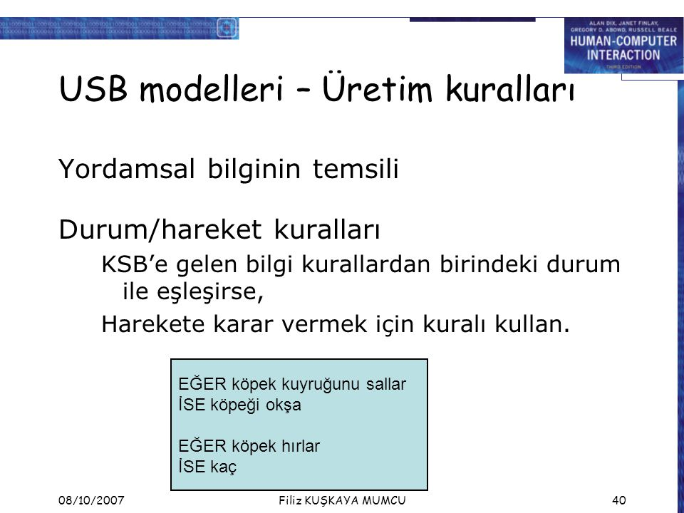 USB modelleri – Üretim kuralları