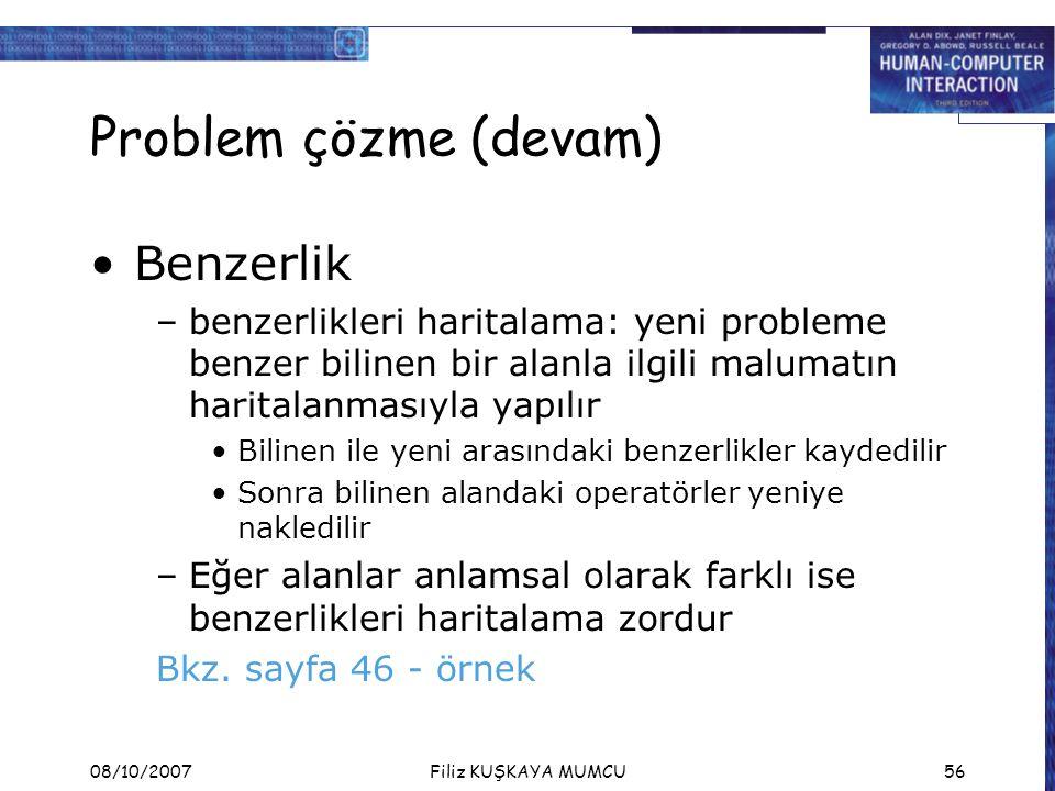 Problem çözme (devam) Benzerlik
