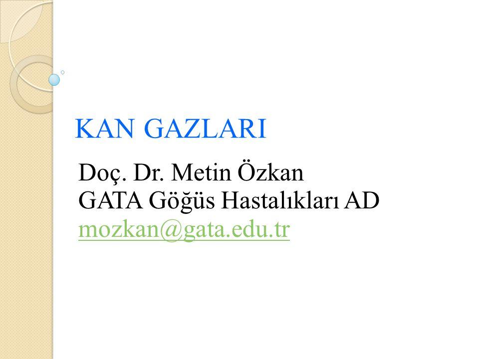 Doç. Dr. Metin Özkan GATA Göğüs Hastalıkları AD mozkan@gata.edu.tr