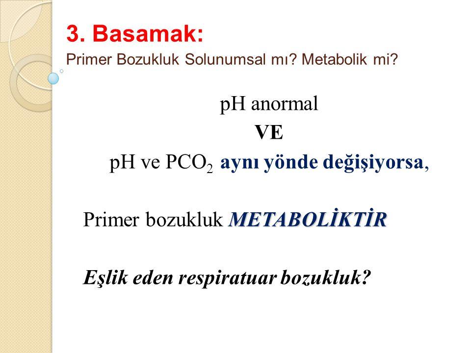 3. Basamak: Primer Bozukluk Solunumsal mı Metabolik mi