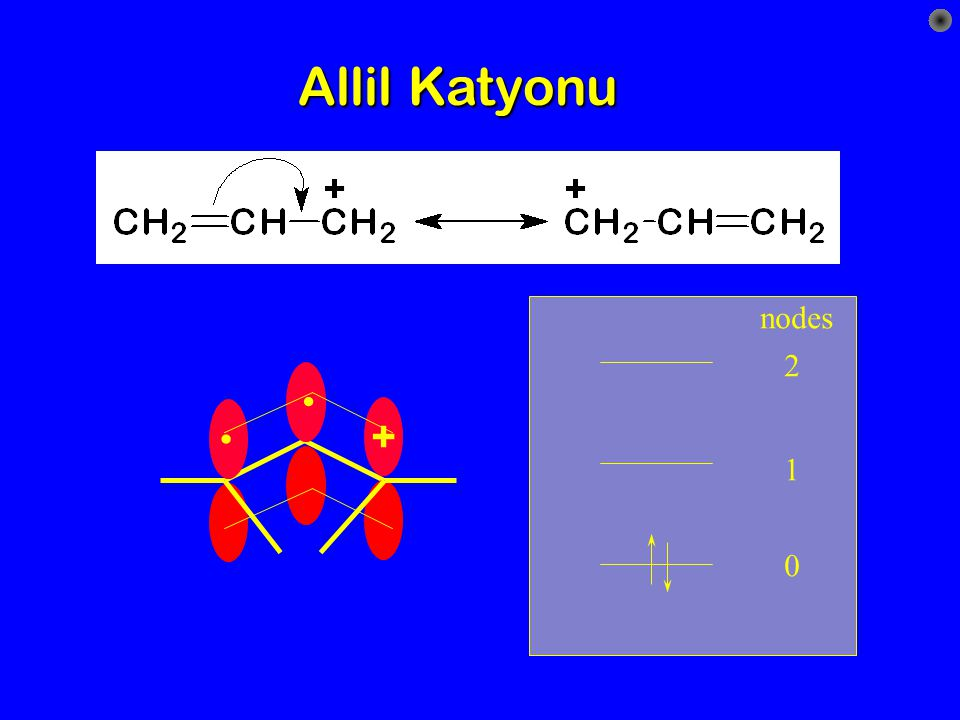 Allil Katyonu nodes . + 2 1