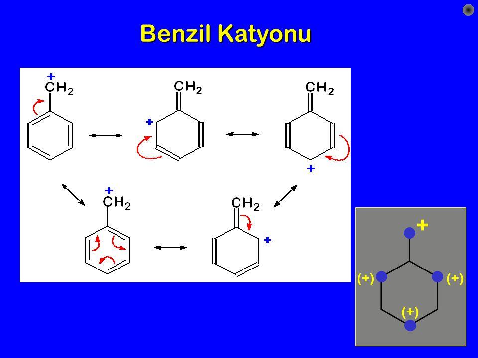 Benzil Katyonu + (+) (+) (+)