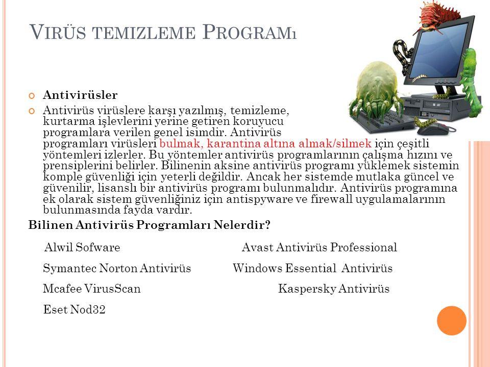 Virüs temizleme Programı