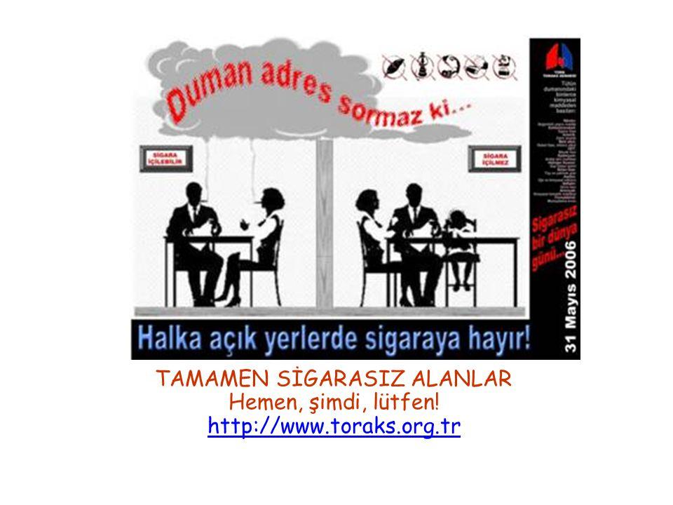 TAMAMEN SİGARASIZ ALANLAR Hemen, şimdi, lütfen! http://www.toraks.org.tr