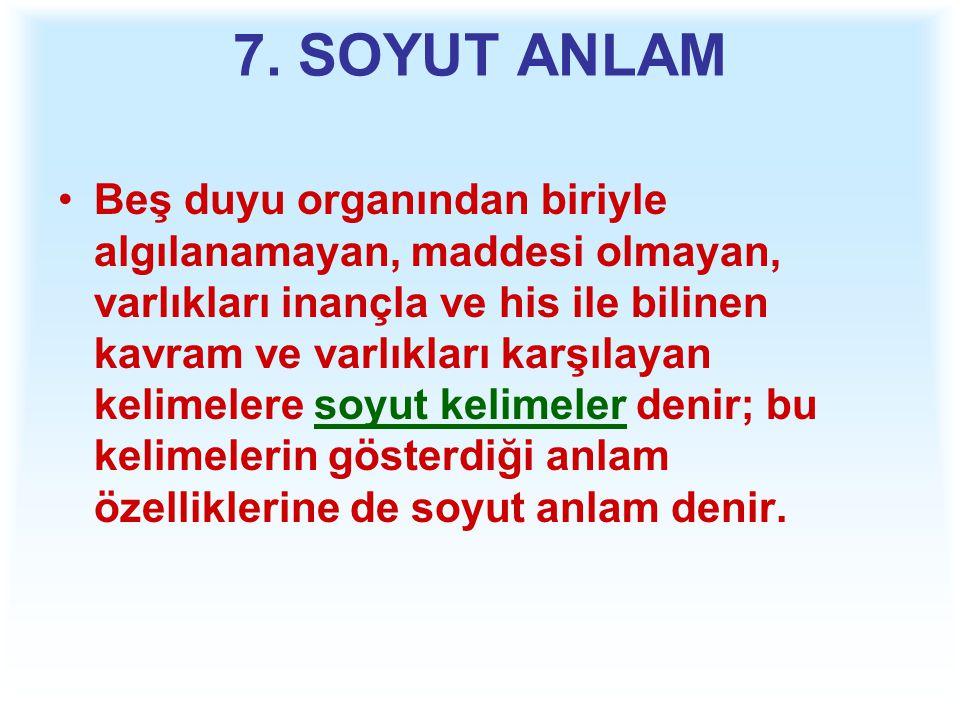7. SOYUT ANLAM