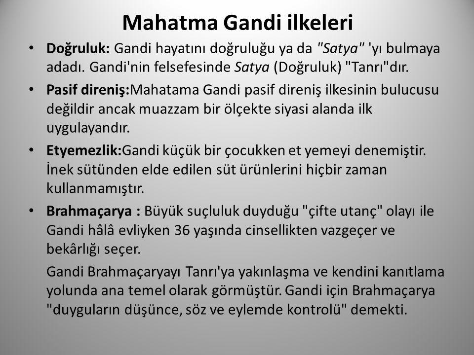 Mahatma Gandi ilkeleri