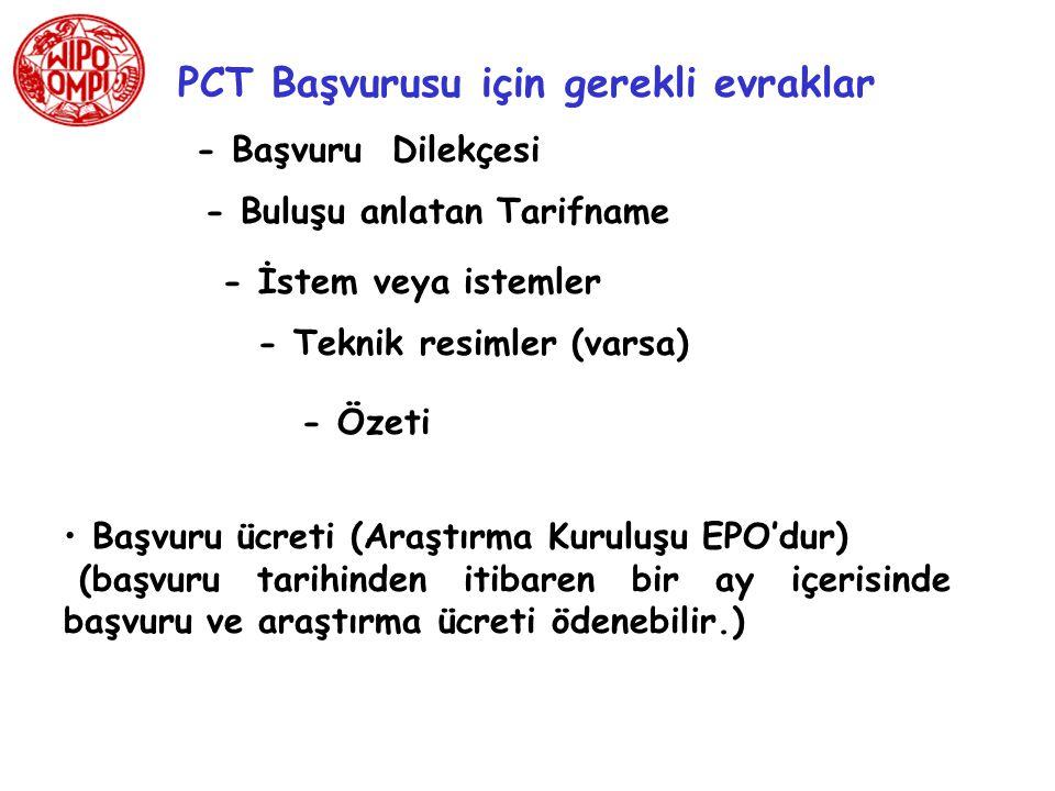PCT Başvurusu için gerekli evraklar
