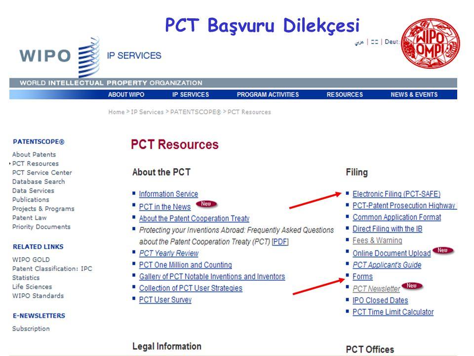 PCT Başvuru Dilekçesi