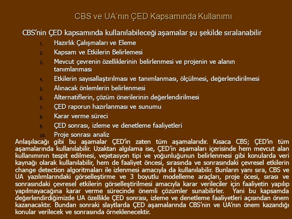 CBS ve UA'nın ÇED Kapsamında Kullanımı