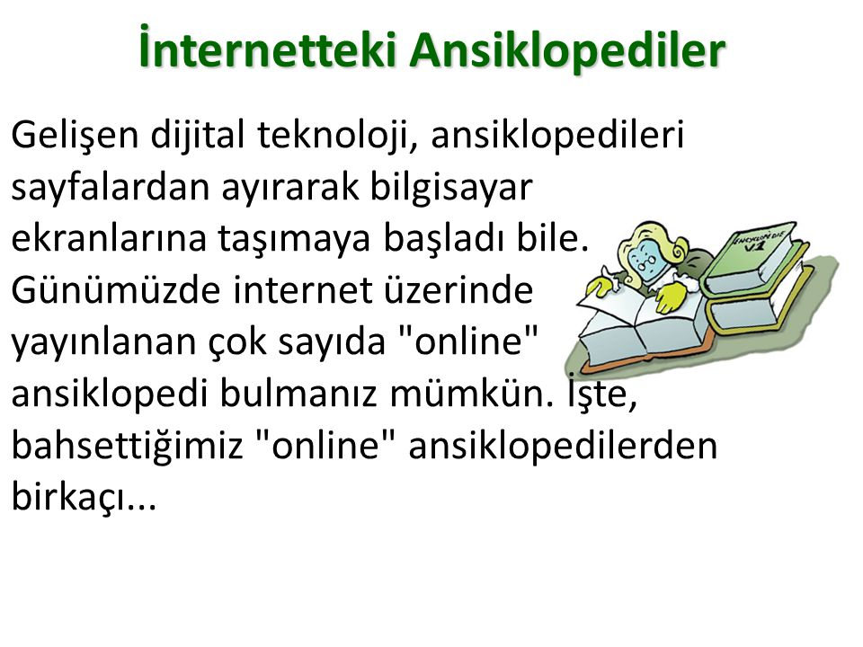 İnternetteki Ansiklopediler