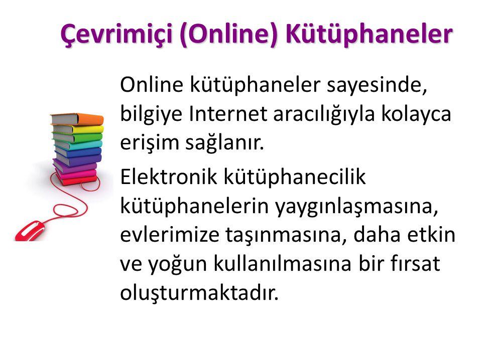 Çevrimiçi (Online) Kütüphaneler