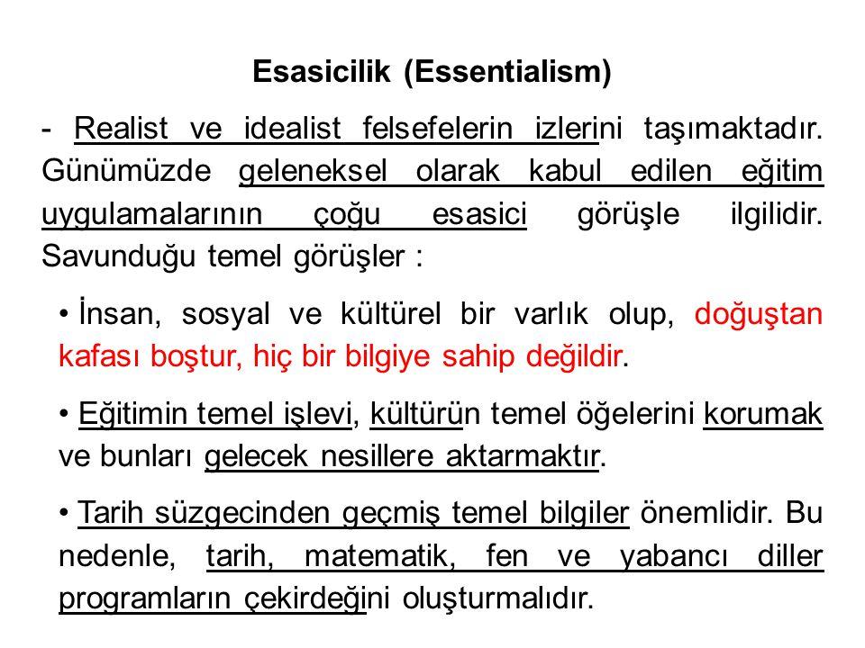 Esasicilik (Essentialism)
