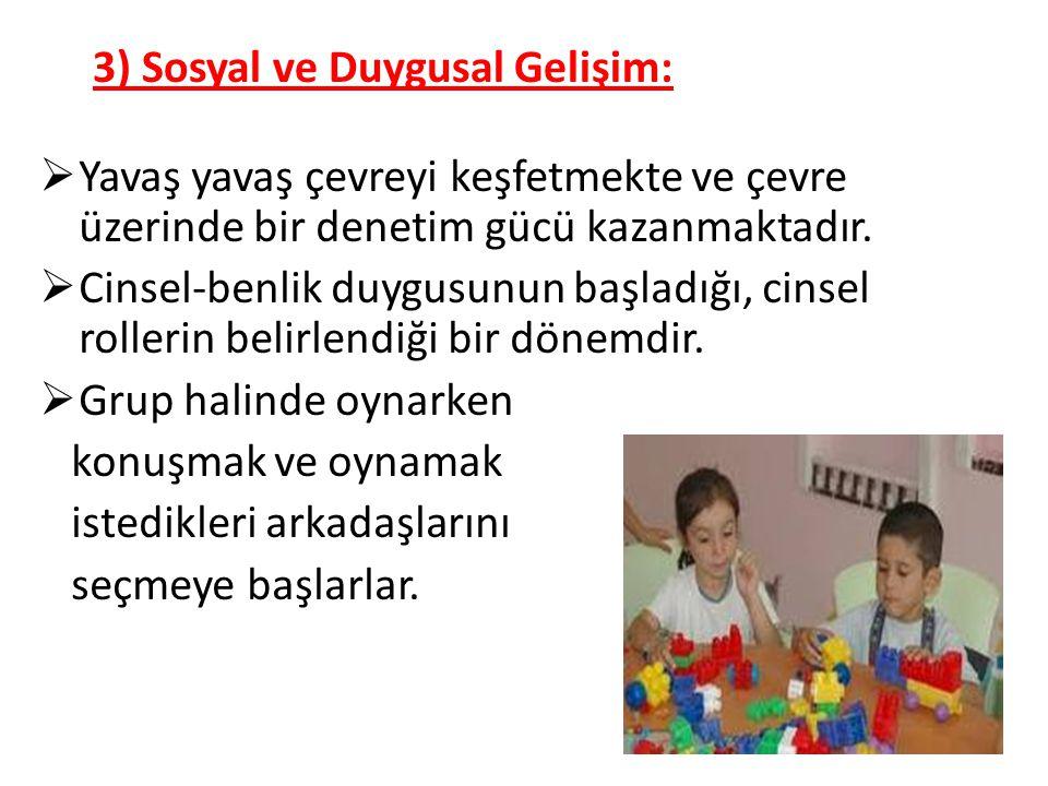 3) Sosyal ve Duygusal Gelişim: