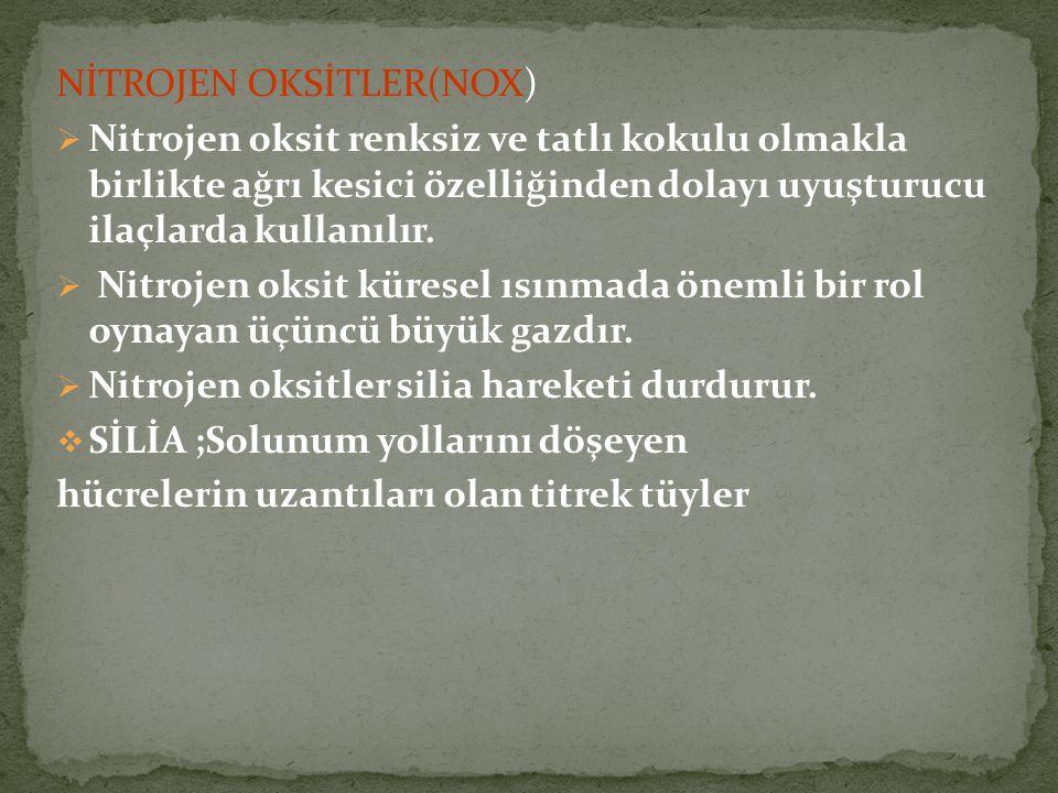 NİTROJEN OKSİTLER(NOX)
