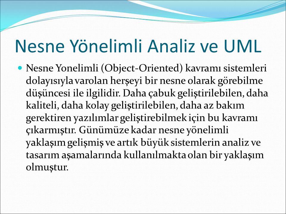 Nesne Yönelimli Analiz ve UML