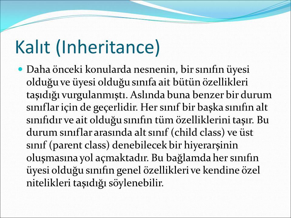 Kalıt (Inheritance)