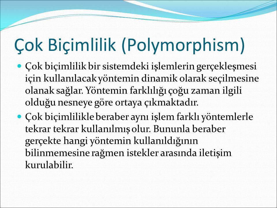 Çok Biçimlilik (Polymorphism)
